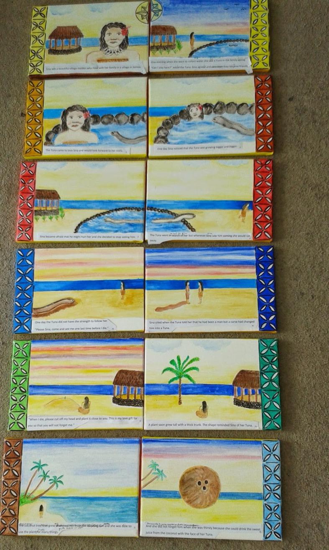 Sina and Tuna canvases
